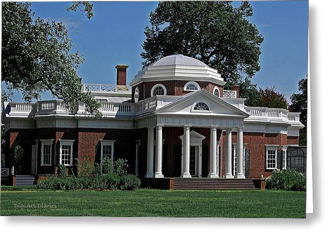 Recently Sold -  - Slavery Digital Art Greeting Cards - Monticello Greeting Card by DigiArt Diaries by Vicky B Fuller
