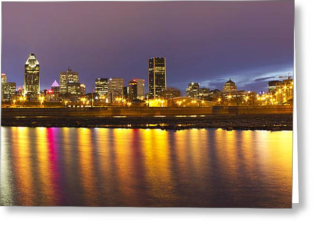 Eavning Greeting Cards - Montreal Panorama Greeting Card by Mircea Costina Photography