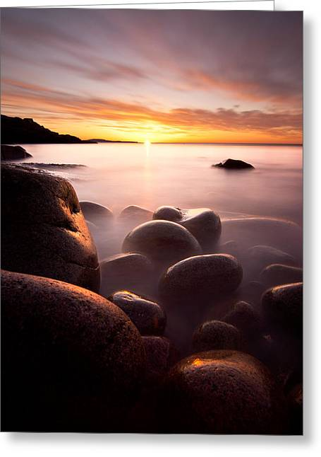 Maine Clouds Greeting Cards - Monument Cove Acadia Greeting Card by Chad Tracy