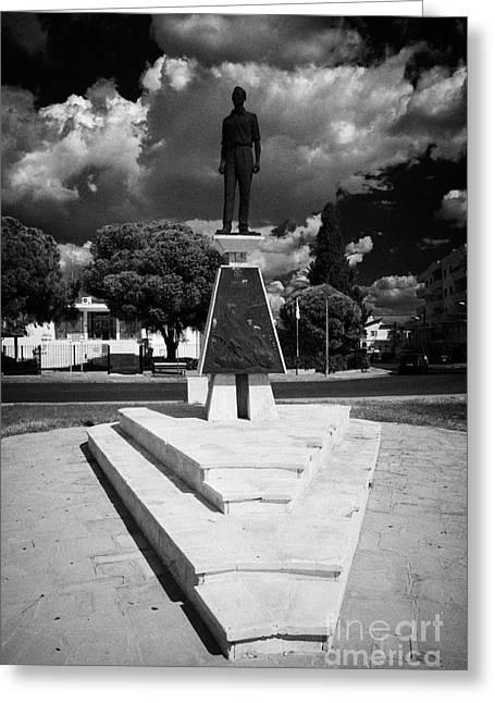Kypros Greeting Cards - Monument Of Michael Parides Eoka Member Parides Square Larnaca Republic Cyprus Greeting Card by Joe Fox
