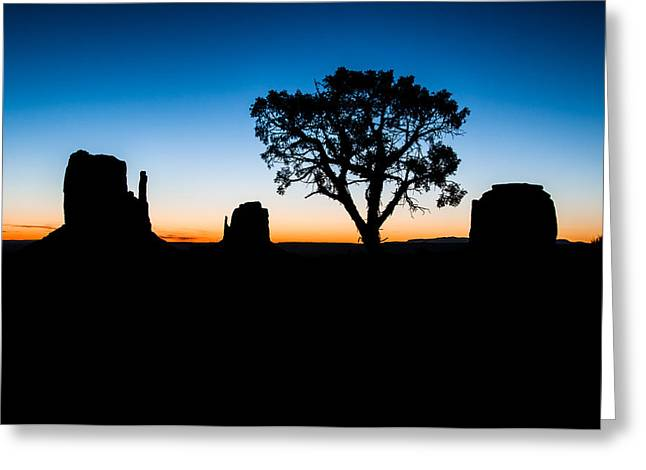 North American Indian Ethnicity Greeting Cards - Monument Valley Eight Greeting Card by Josh Whalen
