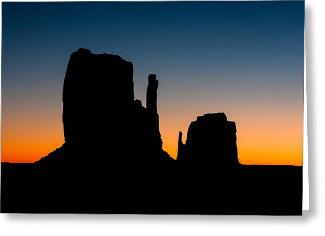 North American Indian Ethnicity Greeting Cards - Monument Valley Five Greeting Card by Josh Whalen