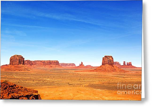 Native Stone Greeting Cards - Monument Valley Landscape Greeting Card by Jane Rix