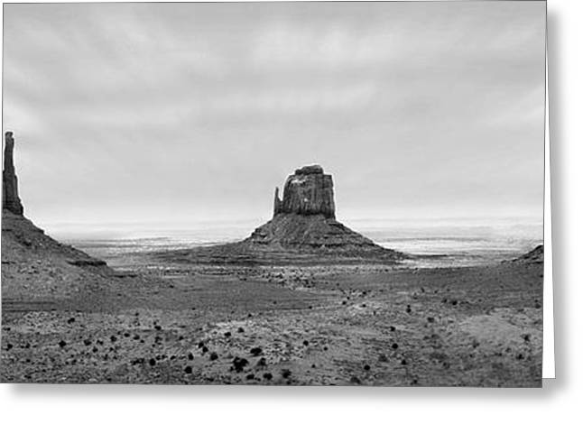White Digital Art Greeting Cards - Monument Valley Greeting Card by Mike McGlothlen