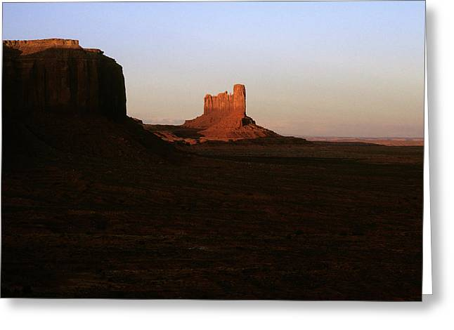 Color_image Greeting Cards - Monument Valley Mitten with Butte Greeting Card by John Brink