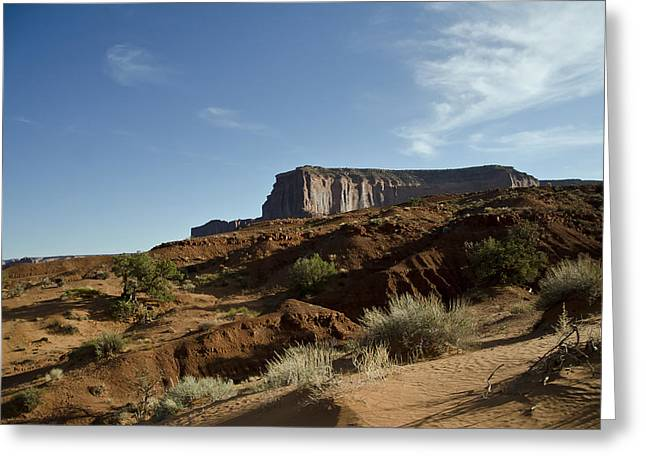 Monolith Greeting Cards - Monument Valley Morning Greeting Card by Wilma  Birdwell