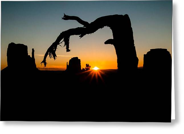 North American Indian Ethnicity Greeting Cards - Monument Valley Nine Greeting Card by Josh Whalen