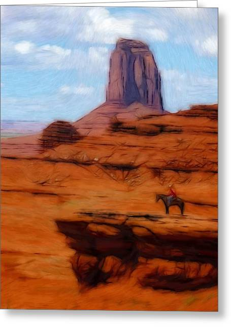 America Pastels Greeting Cards - Monument Valley Pastel Greeting Card by Stefan Kuhn