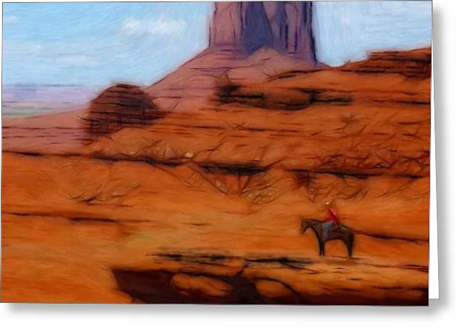 Monument Valley Pastel Greeting Card by Stefan Kuhn