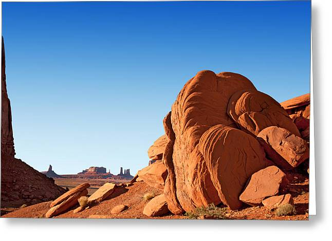Native Stone Greeting Cards - Monument Valley rocks Greeting Card by Jane Rix