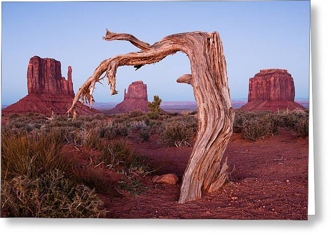 North American Indian Ethnicity Greeting Cards - Monument Valley Seven Greeting Card by Josh Whalen