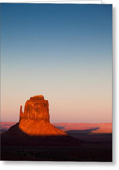 Monument Photographs Greeting Cards - Monument Valley Sunset Greeting Card by Dave Bowman