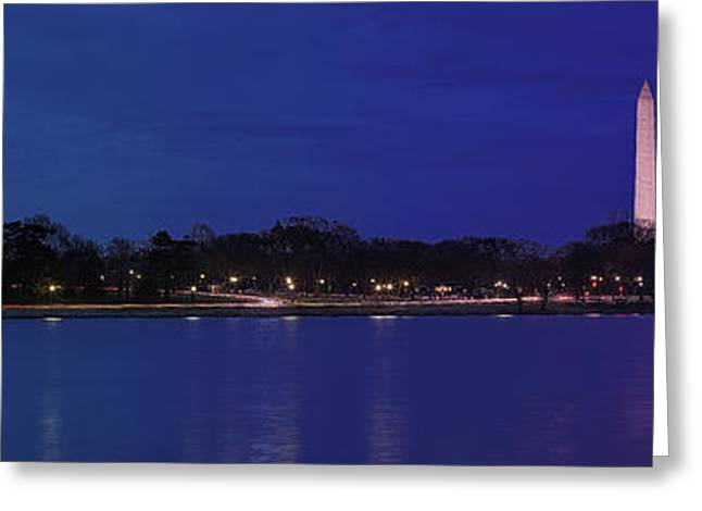 Monuments on the Potomac Greeting Card by Metro DC Photography