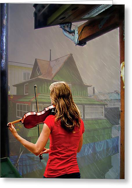 Photoshop Cs5 Greeting Cards - Mood Music Greeting Card by Dale Stillman