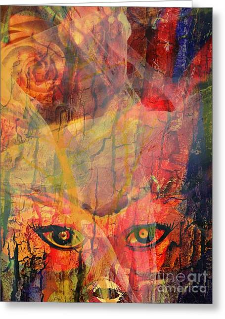 Period Mixed Media Greeting Cards - Moods In a Period Greeting Card by Fania Simon
