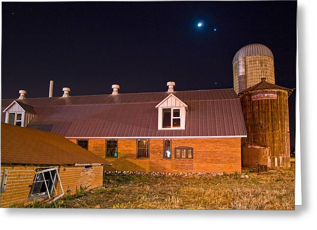 Historic Architecture Greeting Cards - Moon and Venus Above History Greeting Card by Paul Gana