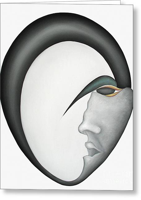 Recently Sold -  - Inner Self Paintings Greeting Cards - Moon Brother Greeting Card by Joanna Pregon