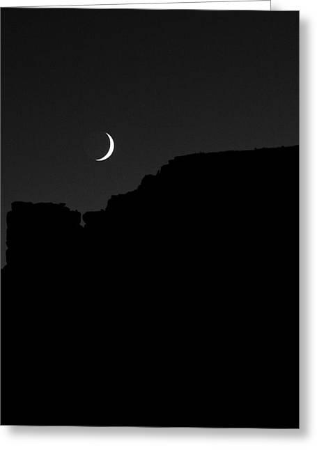 Moon Cedar Mesa Utah Greeting Card by Troy Montemayor