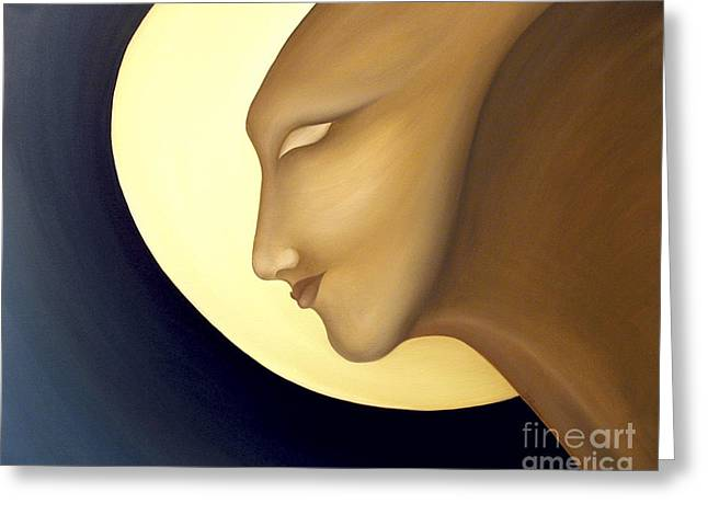 Recently Sold -  - Inner Self Paintings Greeting Cards - Moon Diva Greeting Card by Joanna Pregon