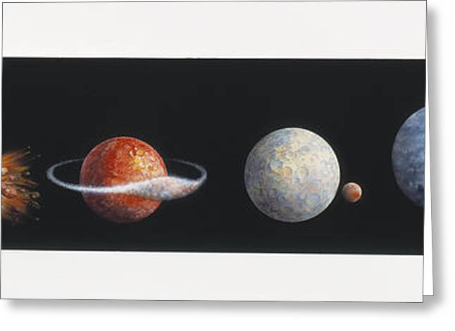 Scenario Greeting Cards - Moon Formation Greeting Card by Gary Hincks