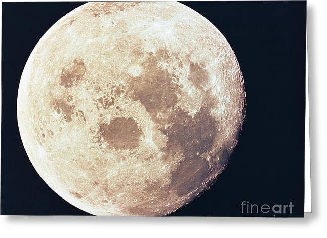 Outerspace Greeting Cards - Moon From Apollo 11 Greeting Card by Nasa