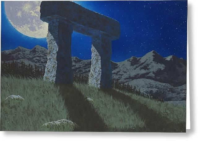 Moon Gate Greeting Card by Martin Bellmann