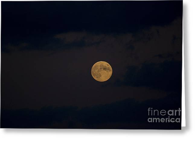 Man In The Moon Greeting Cards - Moon Rising 05 Greeting Card by Thomas Woolworth