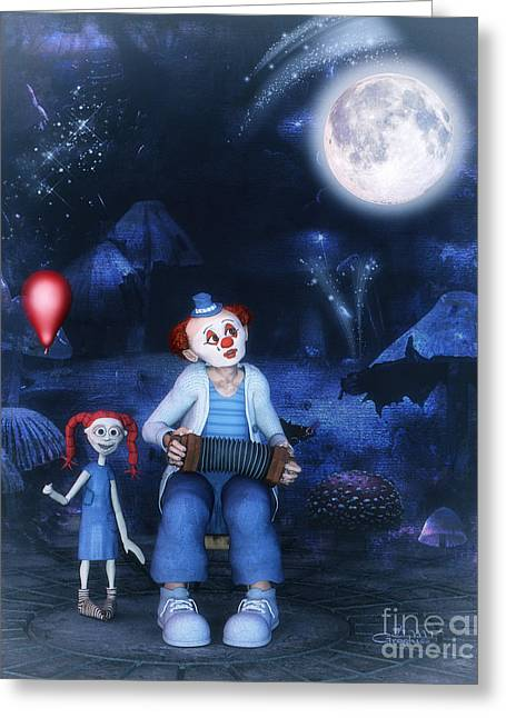 Storybook Greeting Cards - Moon Song Greeting Card by Jutta Maria Pusl