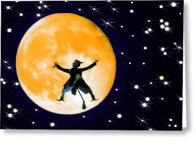 Bam Greeting Cards - Moon Splat 2 Greeting Card by Steve Ohlsen