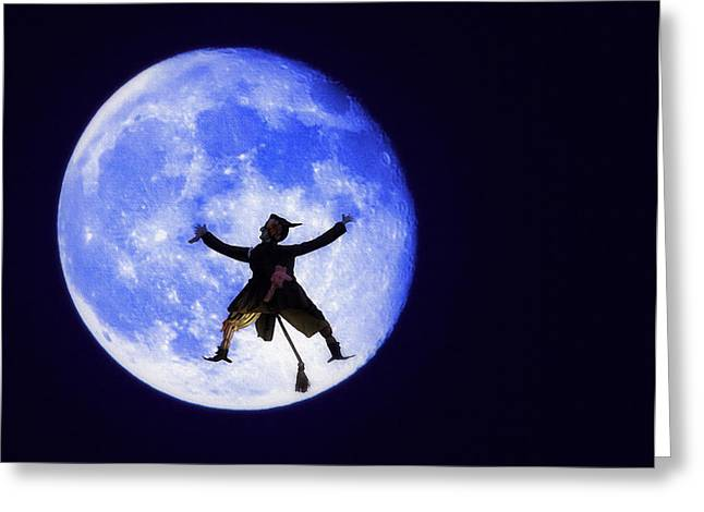 Bam Greeting Cards - Moon Splat Greeting Card by Steve Ohlsen