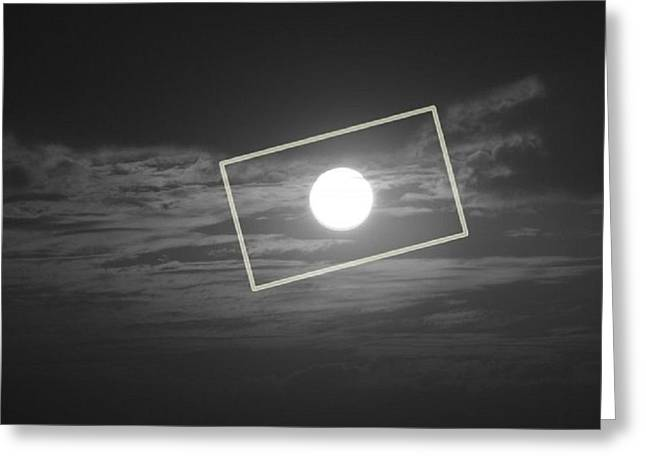 Prashant Ambastha Greeting Cards - Moon Square Greeting Card by Prashant Ambastha