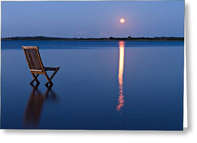 Glare Greeting Cards - Moon View Greeting Card by Gert Lavsen