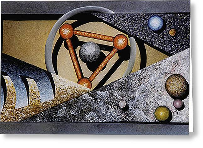 Faux Finish Greeting Cards - Mooncraft Greeting Card by Ben Saturen