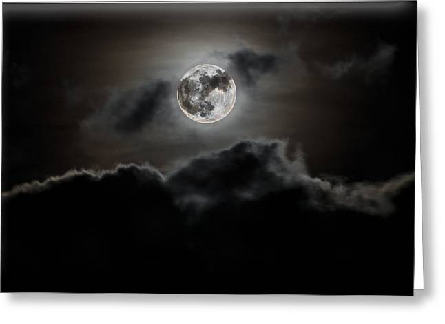 Camborne Greeting Cards - Moonlight Greeting Card by Paul Howarth
