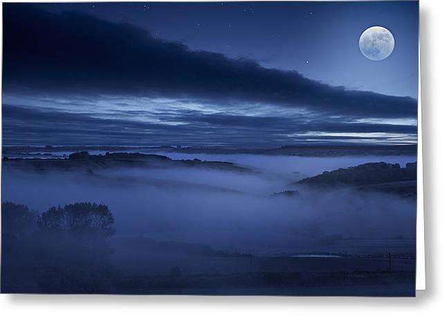 Kris Dutson Greeting Cards - Moonlight Sonata Greeting Card by Kris Dutson