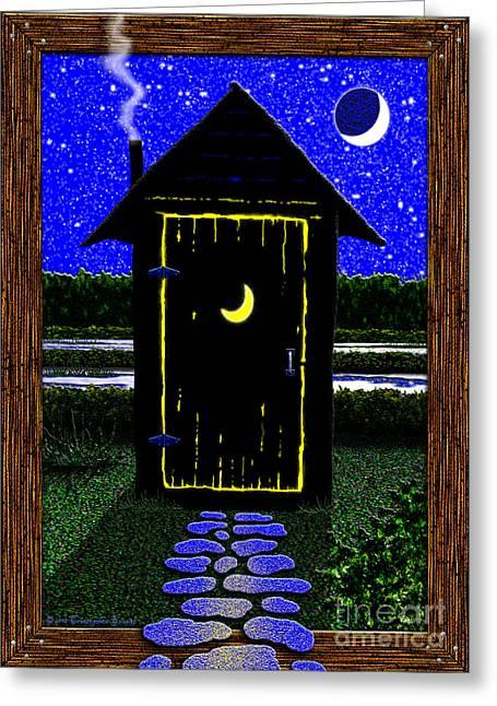 Cristopher Ernest Greeting Cards - Moonlight Stroll Greeting Card by Cristophers Dream Artistry