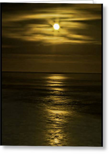 Ocean. Reflection Digital Art Greeting Cards - Moonlit Pacific Greeting Card by Dale Stillman