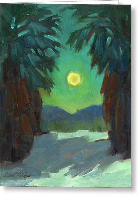 Night Scenes Greeting Cards - Moonrise Greeting Card by Diane McClary