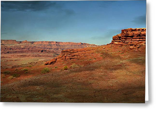 Moonrise On The Mesa Greeting Card by Marty Koch