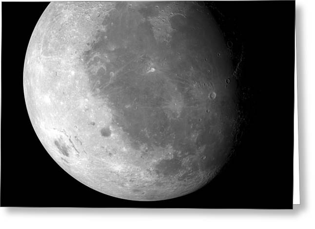 Mare Imbrium Greeting Cards - Moons Surface Greeting Card by Detlev Van Ravenswaay