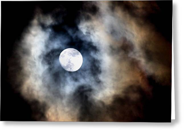 Lunation Greeting Cards - Moonshine Greeting Card by Karen M Scovill
