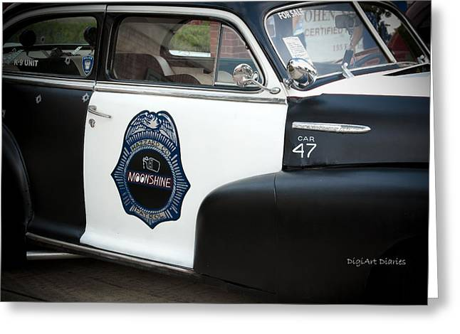 Moonshine Patrol Greeting Card by DigiArt Diaries by Vicky B Fuller