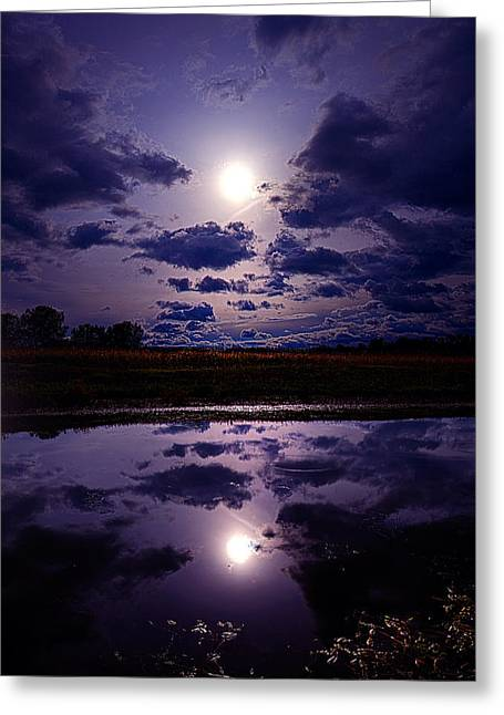 Geographic Greeting Cards - Moonshine Greeting Card by Phil Koch