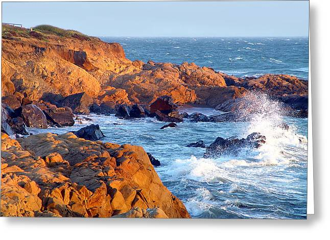 Cambria Greeting Cards - Moonstone Rocks Greeting Card by Michael Rock