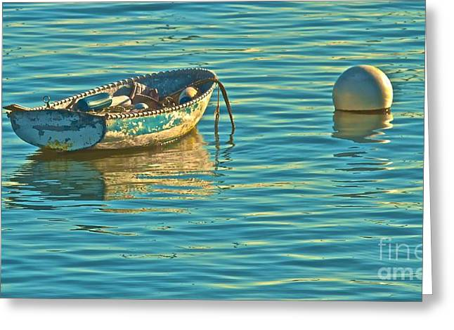 Mccrea Greeting Cards - Moored and Serene Greeting Card by Gus McCrea