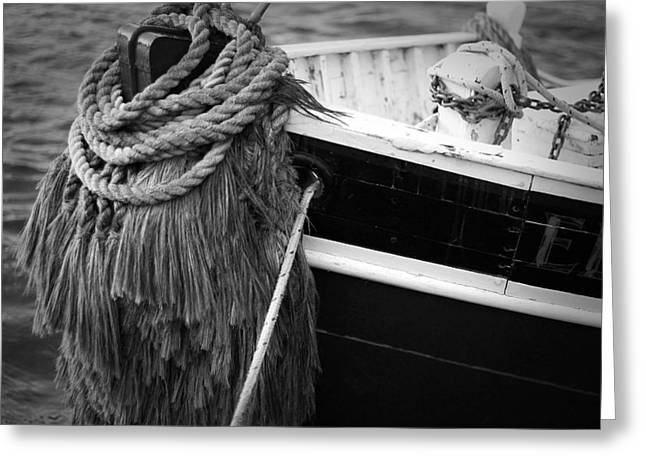 Black Tie Greeting Cards - Moored Greeting Card by Eric Gendron