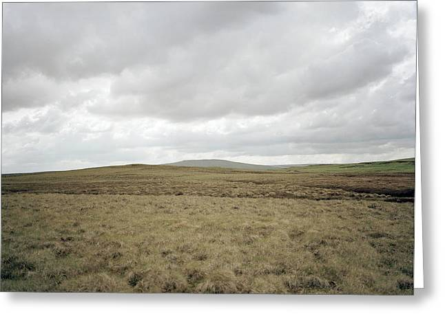 Grey Clouds Greeting Cards - Moorland Greeting Card by Michael Marten