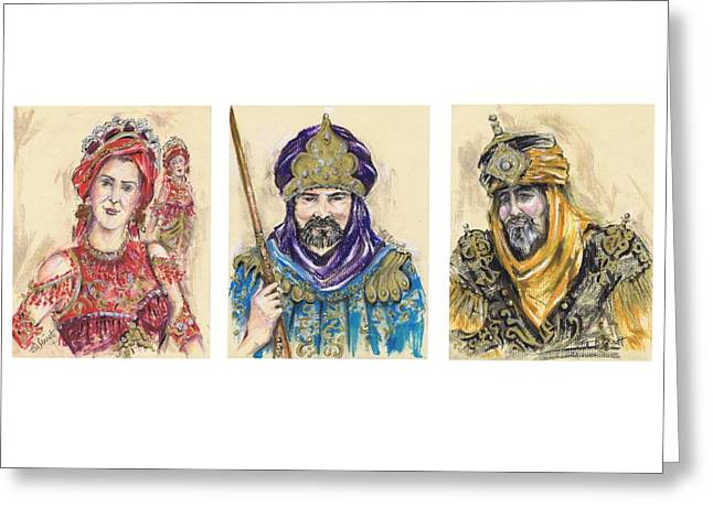 Procession Framed Prints Greeting Cards - Moors of Mojacar or Moros de Mojacar Greeting Card by Jill Bennett