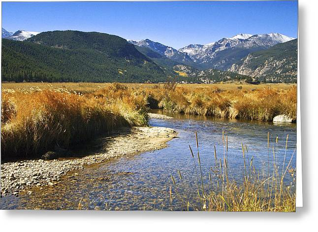 Rocky Mountains Framed Prints Greeting Cards - Morain Park Colorado Greeting Card by James Steele