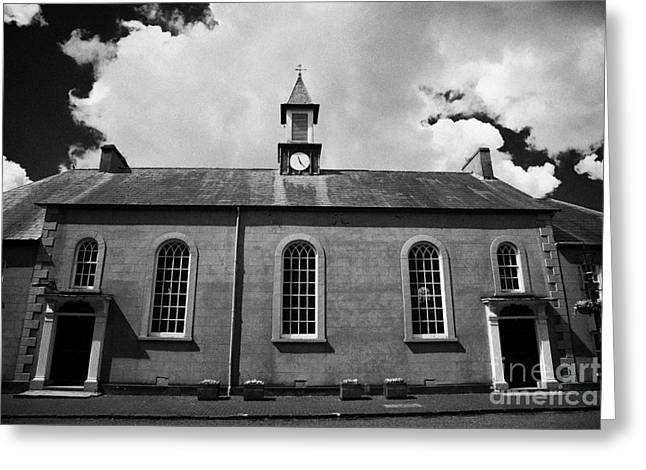 Moravian Greeting Cards - Moravian Church In 18th Century Gracehill Village  Greeting Card by Joe Fox